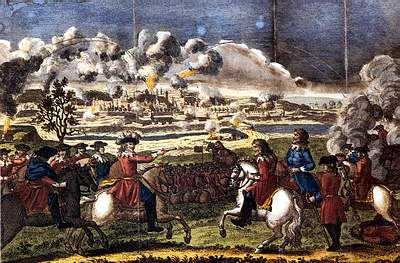 Cromwell's Forces commence their bombardment of Drogheda